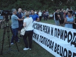 """Рибари на протест срещу язовирите """"Цанков камък"""" и """"Яденица"""""""