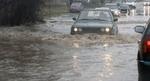 Наводнен е пътят на изхода на Кърджали към Мост