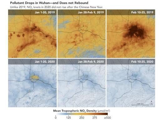 Рекорден спад в нивата на замърсяване, отчетен в Китай и на стотици други места по света