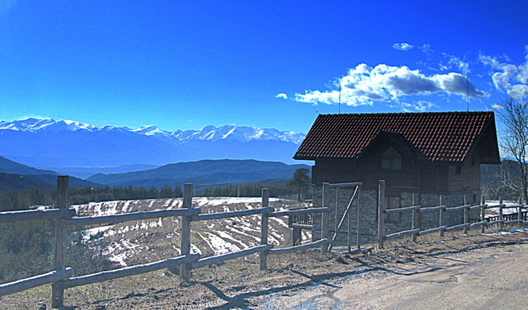 Вила в село Орцево с гледка към Пирин