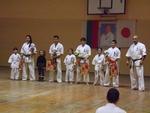 Рудоземските каратисти, спечелили медали през годината, бяха наградени на скромна церемония